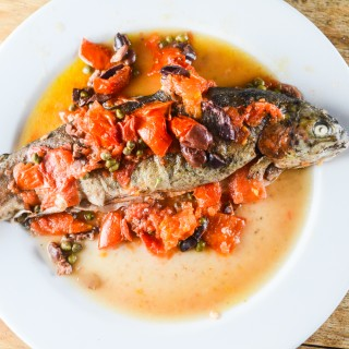 Hookin' And Cookin' – Rainbow Trout With Capers, Olives And Tomatoes