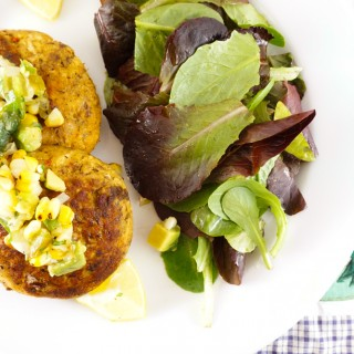 Bluefish Cakes With Roasted Corn Salsa