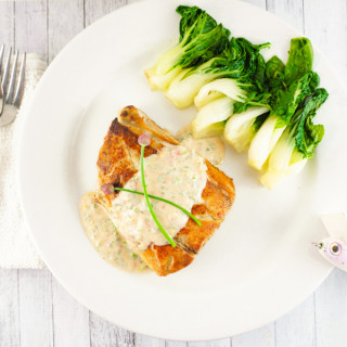 Hookin' and Cookin': Bluefish With Chive Yogurt Sauce